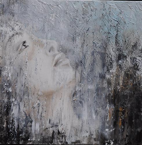 Elena Rede, VERSO   2017   olio minerale su tela, cm 35x35